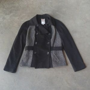Yoana Baraschi Black Herringbone Tweed Jacket 8